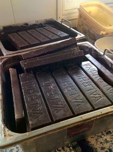 chocolat blocs bruts