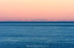Corse vue depuis Monaco, photo musée océanographique