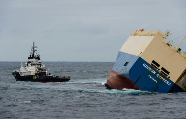 Cargo à la dérive: Le «Modern Express» remorqué vers le port deBilbao