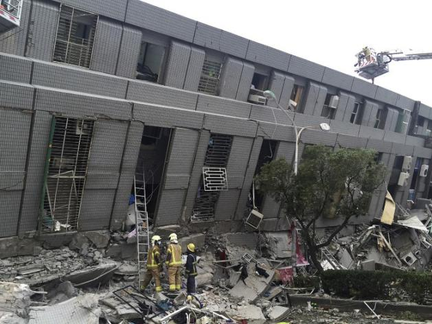 Séisme de magnitude 6,4 àTaiwan
