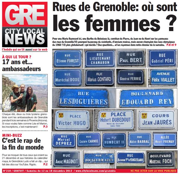 Chiffre du jour : Seulement 2% des rues françaises portent le nom d'unefemme