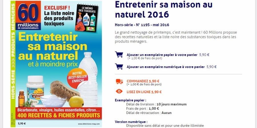 Produits ménagers : découvrez la liste des produitstoxiques