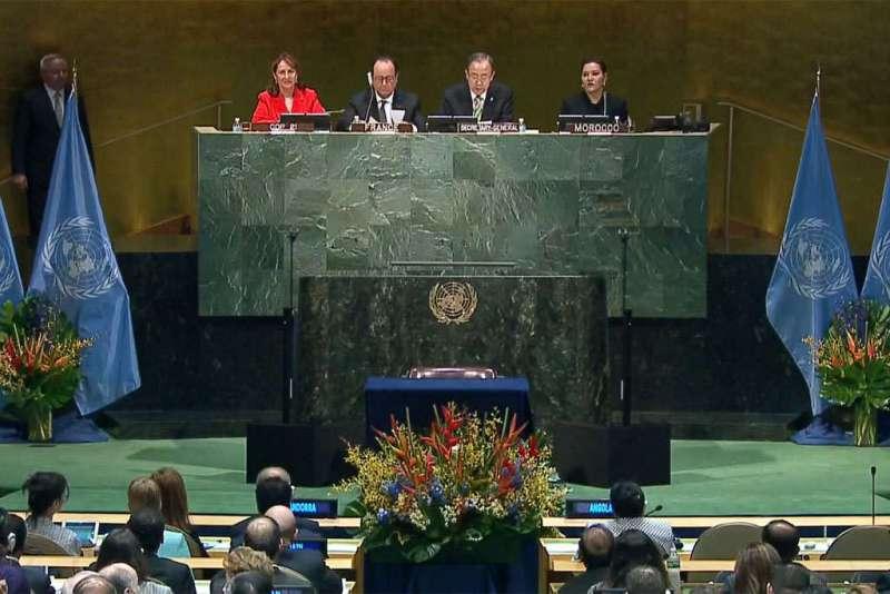 Climat: un nombre record de pays signent à l'ONU l'accord deParis