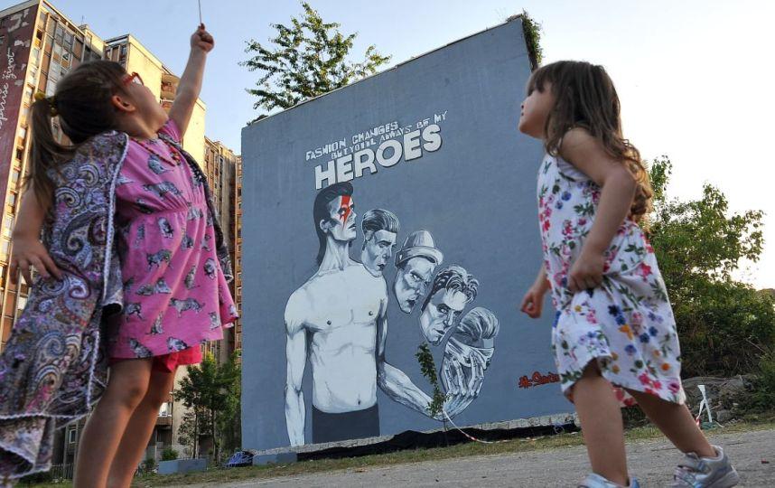 Art : Sarajevo dévoile le plus grand mural de David Bowie aumonde