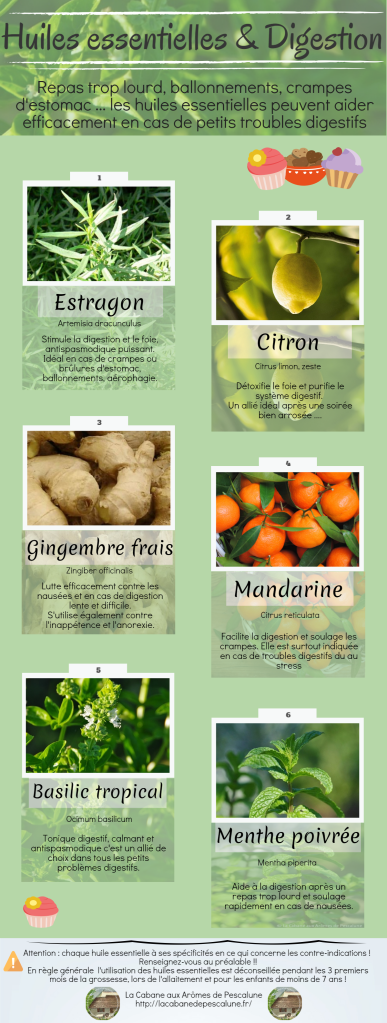 Huile essentielle et problèmes digestifs