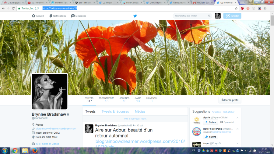 Attention compte Twitter piraté…. My twitter account has been hacked