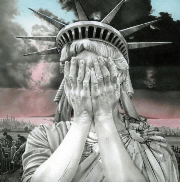 Cette Statue de la Liberté qui pleure a unehistoire