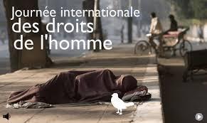 Ce jour 10 décembre, Journée internationale des droits del'homme